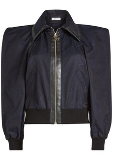 Nina Ricci Bomber Jacket with Sculptural Shoulders