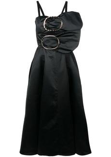 Nina Ricci buckled fit and flare midi dress