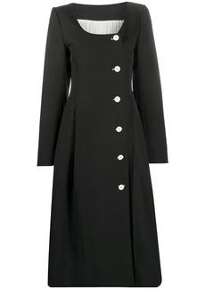 Nina Ricci button-front midi dress