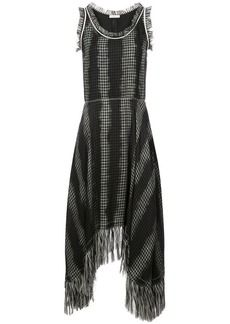 Nina Ricci checked fringe dress