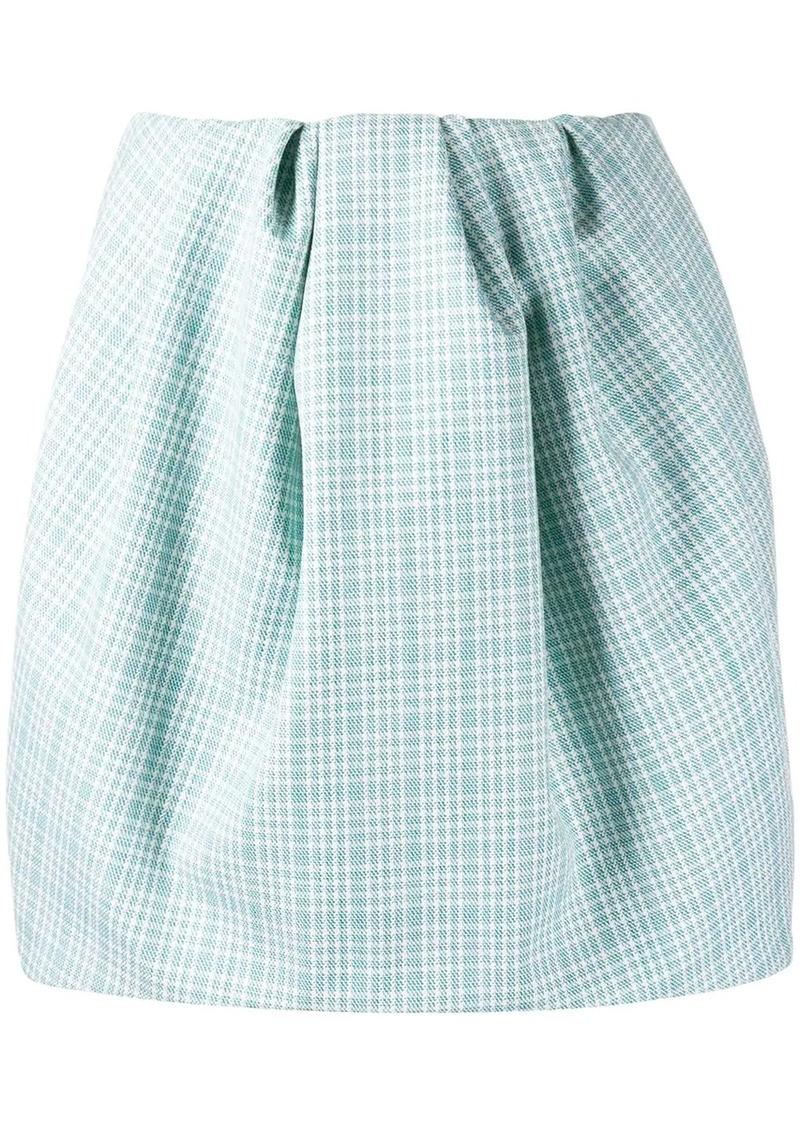 Nina Ricci checked puff mini skirt