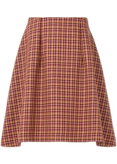 Nina Ricci checked skirt