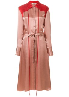 Nina Ricci colour-block midi shirt dress