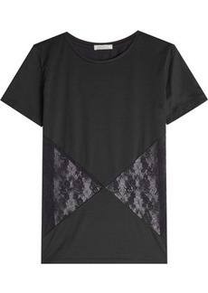 Nina Ricci Cotton T-Shirt with Lace