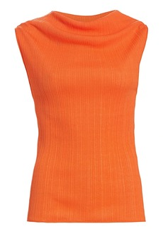 Nina Ricci Cowlneck Sleeveless Top