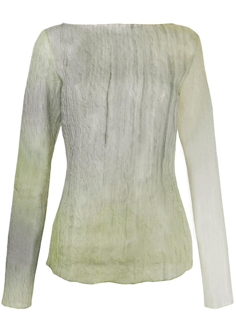 Nina Ricci crinkled effect blouse