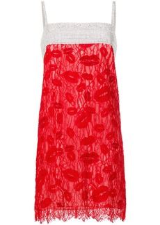 Nina Ricci crystal lace slip dress