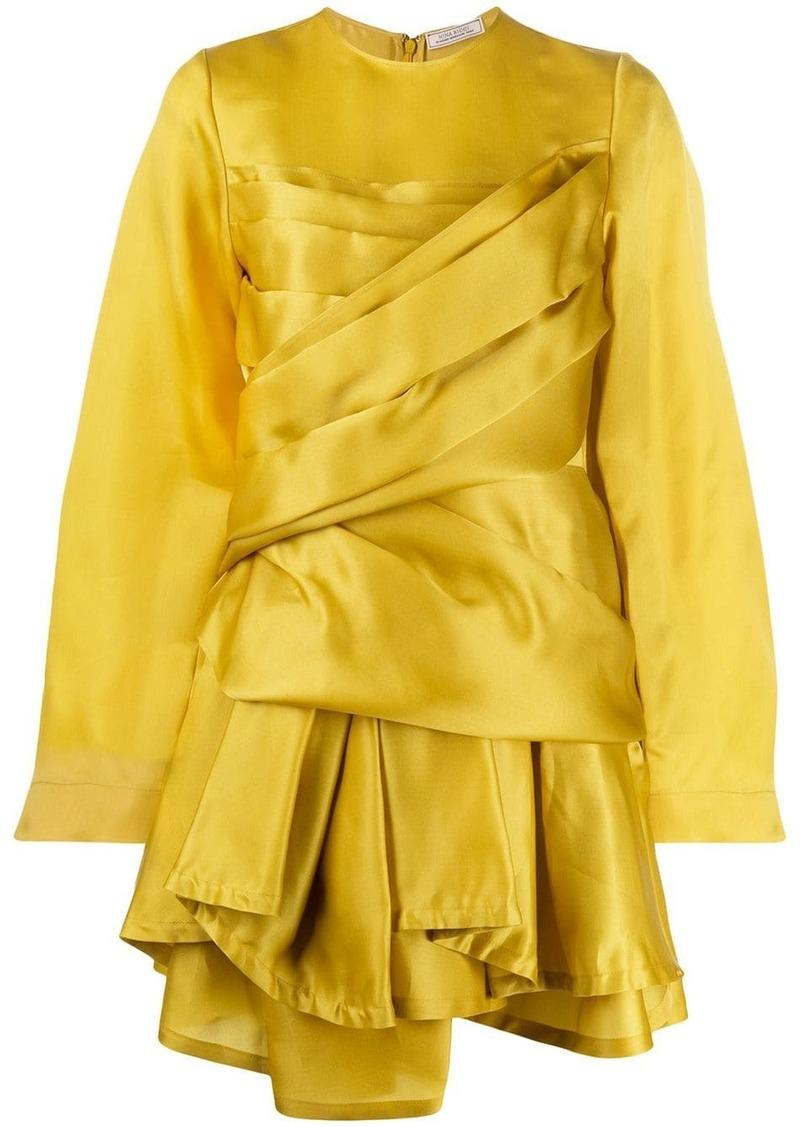 Nina Ricci draped asymmetric hem dress