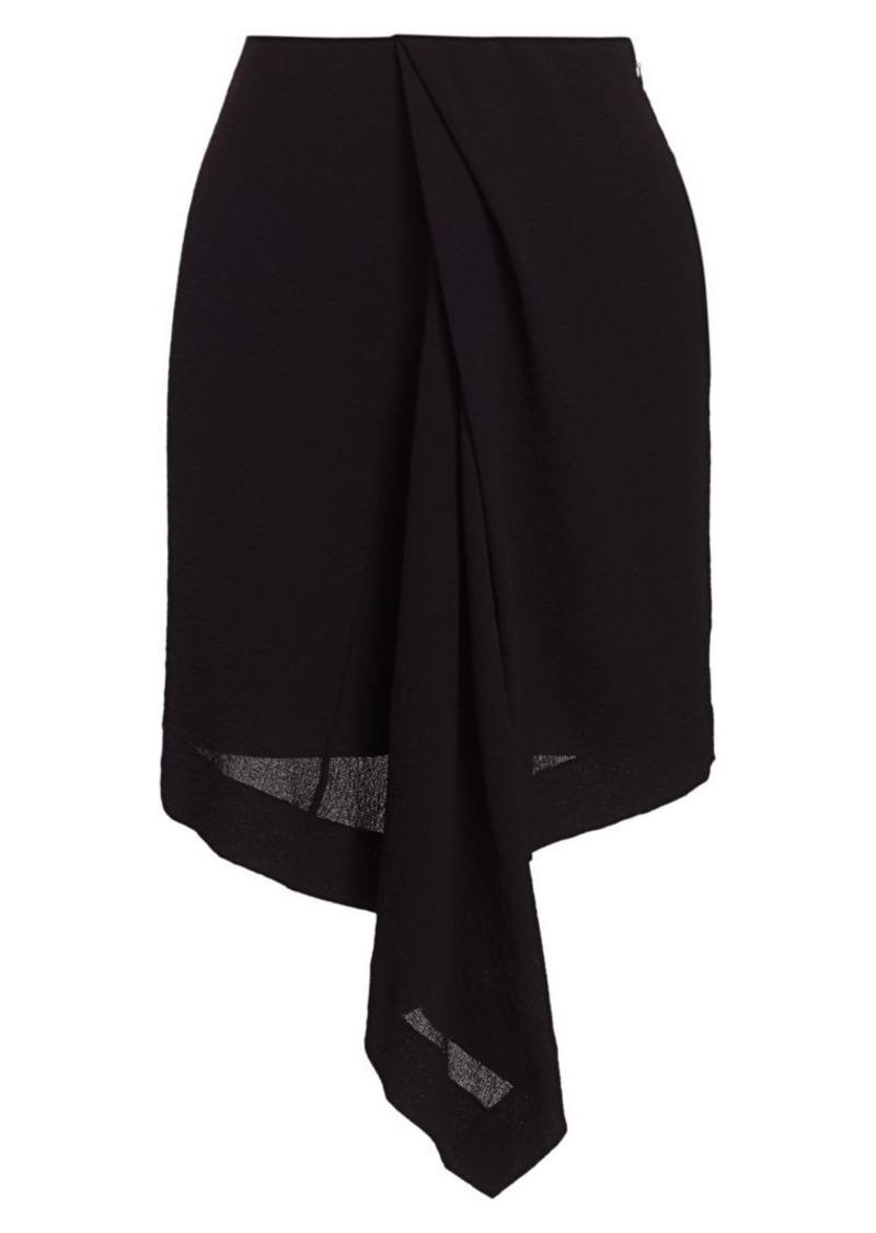 Nina Ricci Draped Asymmetric Skirt