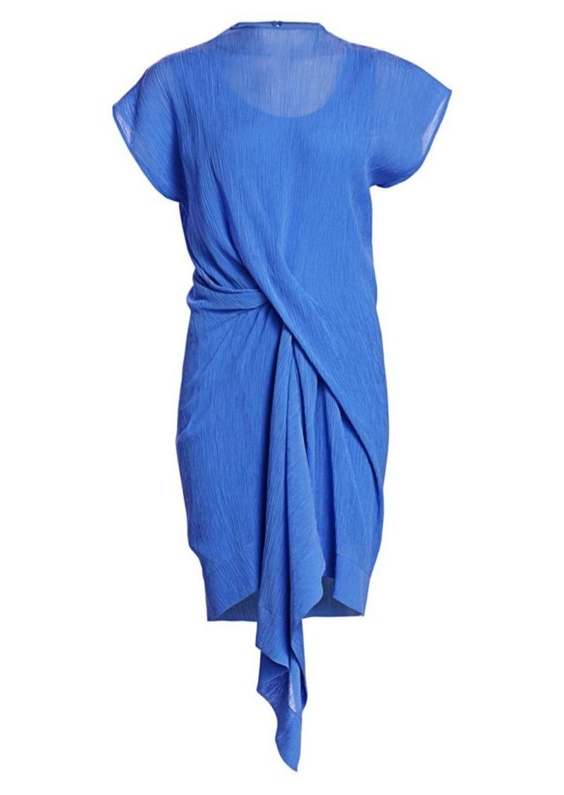Nina Ricci Draped Cotton & Silk Dress