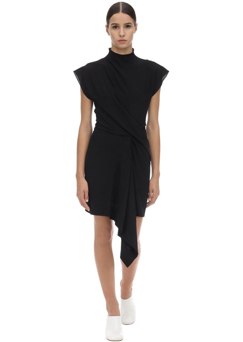Nina Ricci Draped Crepon Dress
