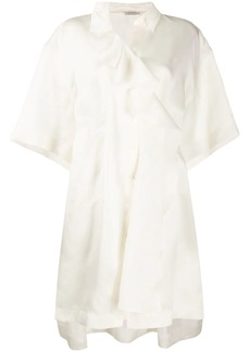 Nina Ricci draped oversized silk tunic