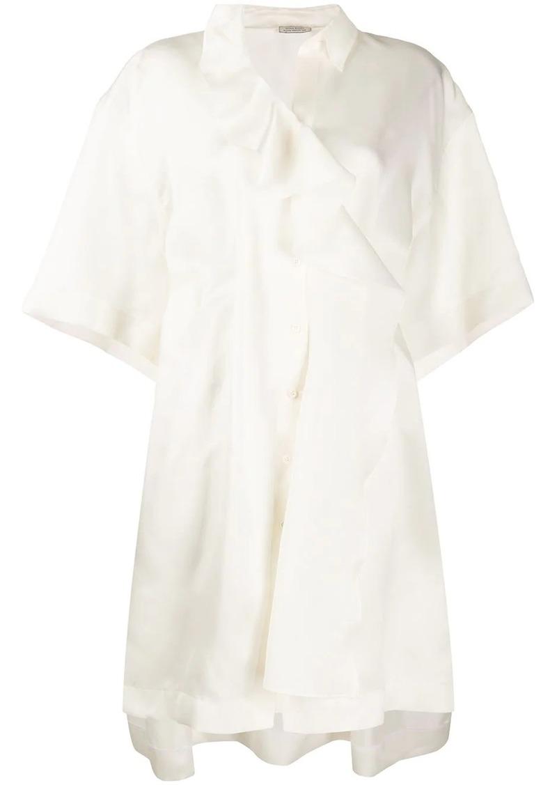 Nina Ricci draped oversized silk tunic