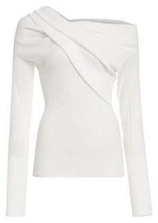Nina Ricci Draped One-Shoulder Sweater
