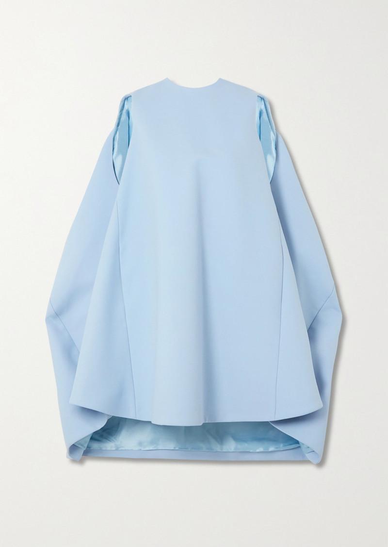 Nina Ricci Draped Wool-blend Mini Dress