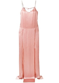 Nina Ricci embellished split-front slip dress