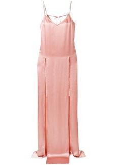 Nina Ricci embellished split-front slip dress