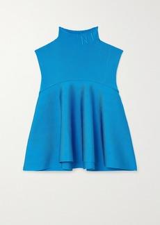 Nina Ricci Embroidered Stretch-knit Turtleneck Top