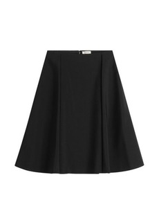 Nina Ricci Flared Silk Skirt