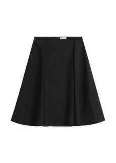 Nina Ricci Flared Silk Skirt