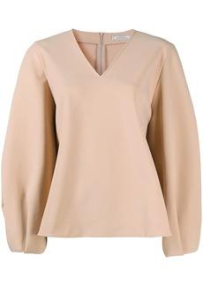 Nina Ricci flared v-neck blouse