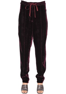 Nina Ricci Fluid Velvet Sweatpants