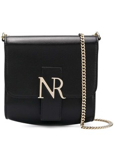 Nina Ricci foldover logo shoulder bag
