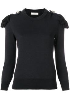 Nina Ricci fringed epaulette sweater