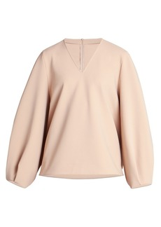 Nina Ricci Full-Sleeve Crepe Top