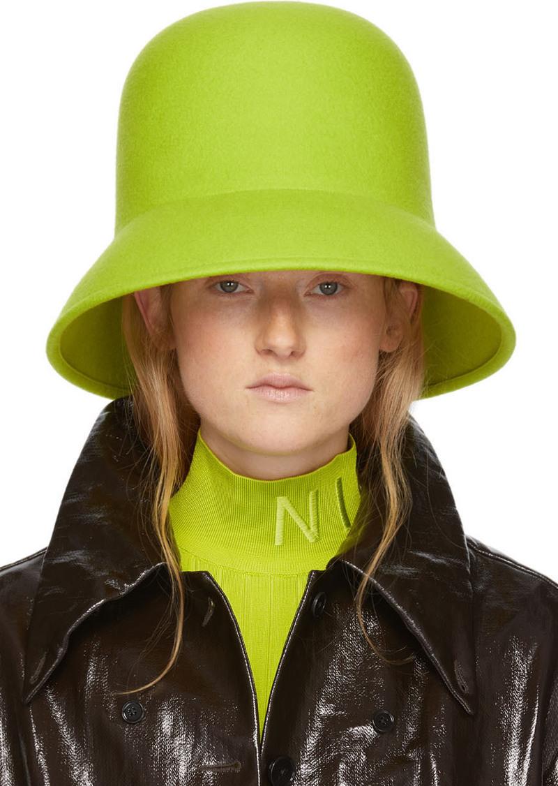 Nina Ricci Green Wool Hat