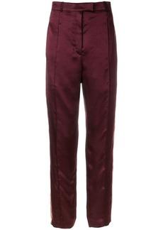 Nina Ricci high-rise side-striped trousers