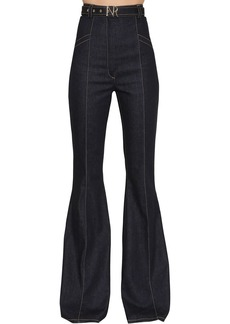 Nina Ricci High Waisted Flared Denim Jeans