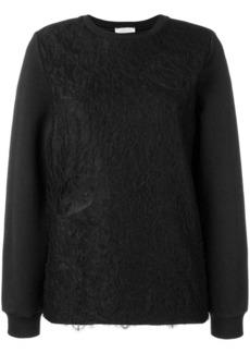 Nina Ricci lace-layered sweater