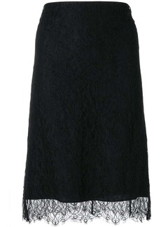 Nina Ricci lace straight skirt