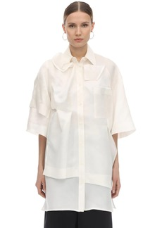 Nina Ricci Layered Asymmetric Silk Shirt