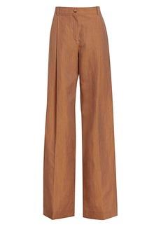 Nina Ricci Linen & Wool Wide-Leg Trousers