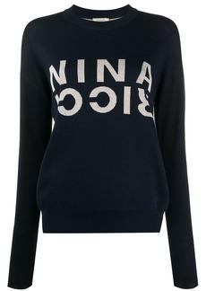Nina Ricci logo knitted jumper