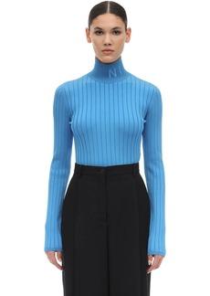 Nina Ricci Logo Viscose Knit Turtleneck Sweater