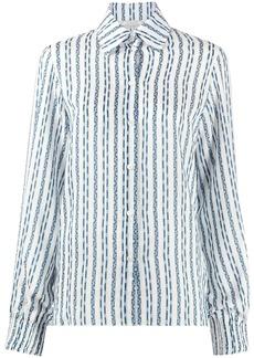 Nina Ricci long-sleeve striped shirt