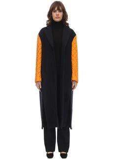 Nina Ricci Long Virgin Wool Felted Gabardine Coat