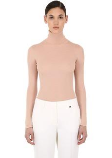 Nina Ricci Merino Wool Rib Knit Turtleneck Sweater