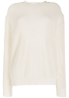Nina Ricci mesh knit sweater