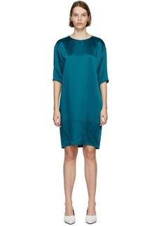 Nina Ricci Blue Silk T-Shirt Dress