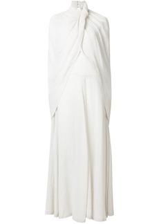 Nina Ricci cape effect dress - Grey