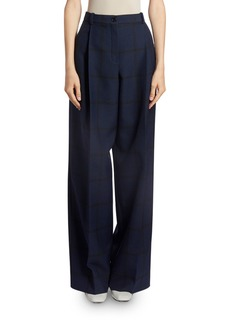 Nina Ricci Checkered Wide-Leg Trousers