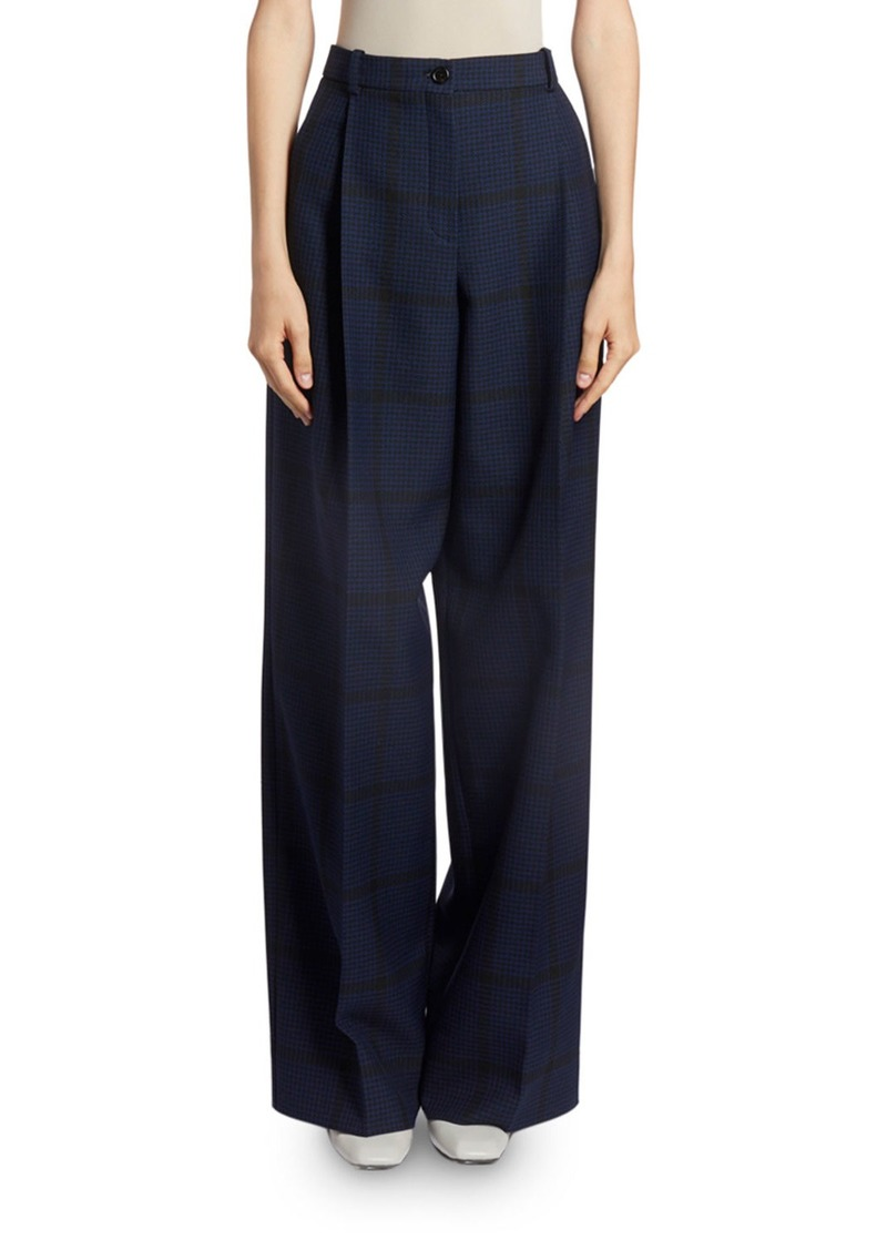 Nina Ricci Checkered Wide-Leg Trousers