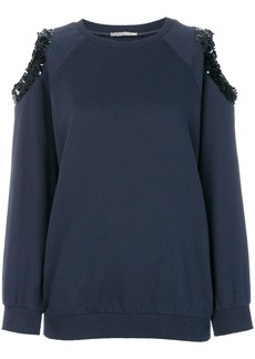 Nina Ricci cut-out sequin detail sweater - Blue