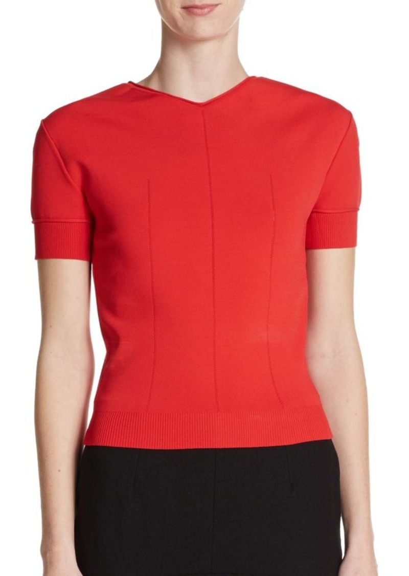 Nina Ricci Cut-Out Sweater Top
