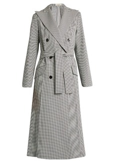 Nina Ricci Double-breasted hound's-tooth coat