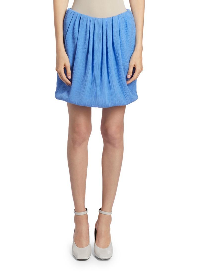 Nina Ricci Draped Gauze Bubble Skirt